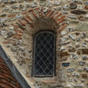 Saxon window with Roman bricks
