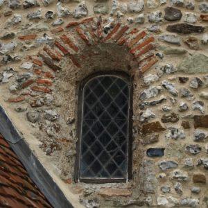 Saxon window with Roman bricks