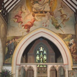 bloomsbury murals over the chancel arch