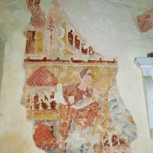Nave north wall mural