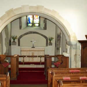 The chancel arch and chancel