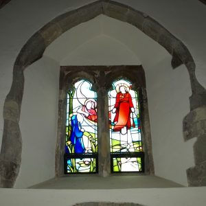 Double lancet east window