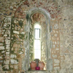 A restored Norman lancet window