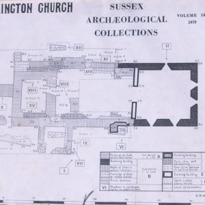 Plan of original church layout