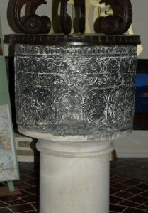 the Norman font dating from c1170