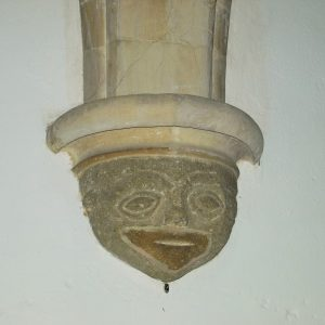 late 12th century grotesque face