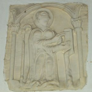 12th century limestone bas-relief