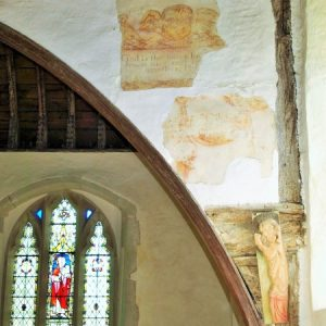 murals above the chancel arch