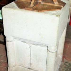 restored 12th century font