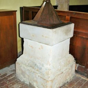 17th century square font