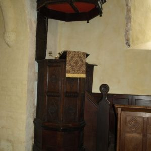 St Botolph's pulpit and tester
