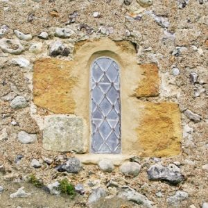 The Saxon window in the south wall