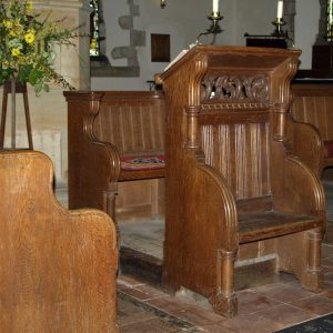Rare double seat lectern