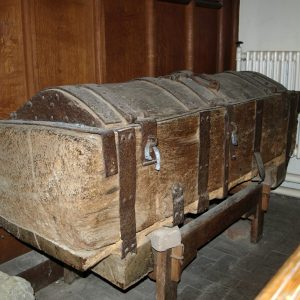 An ancient oak chest