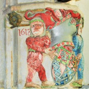 A 1618 coloured carving