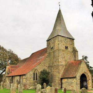 Burwash church