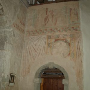 wall paintings on the chancel north wall