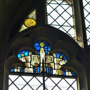 Medieval glass in the chancel north window