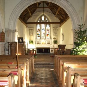 Norman/Early English transitional chancel arch