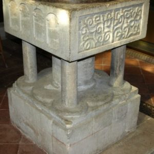 The late 12th century font