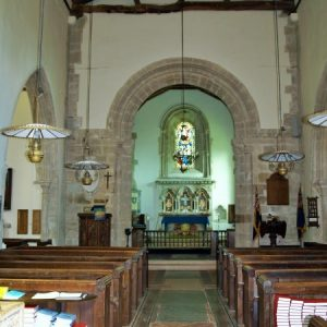 The nave looking towards the early Norman chancel arch