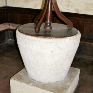 12th century tub font