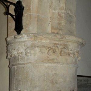 Early english stiff leaf carving