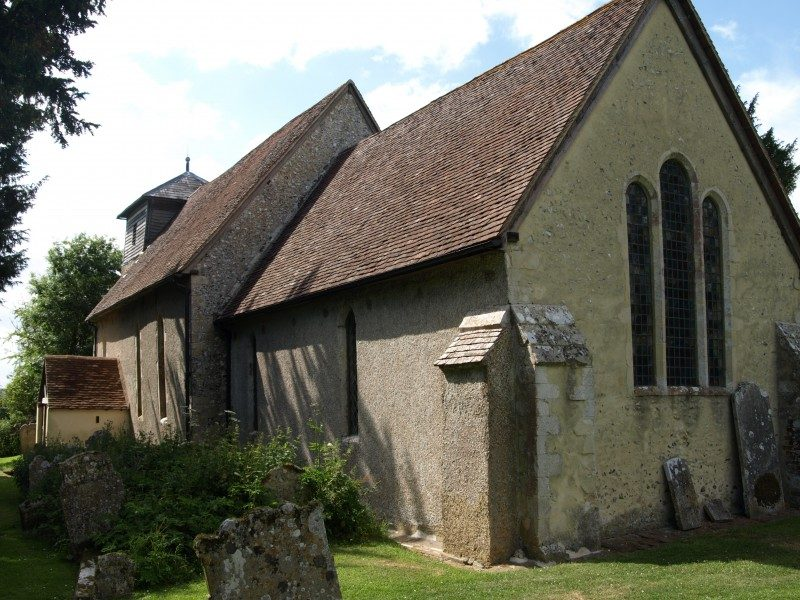 Up Marden church