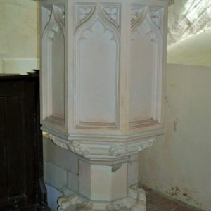 Victorian stone pulpit