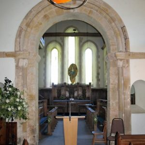 The early 12th century chancel arch