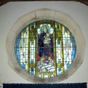 The east window in the north aisle