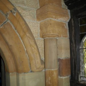 detached shafts and cushion capitals on south doorway