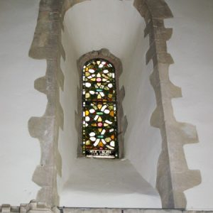 A Norman window in the chancel