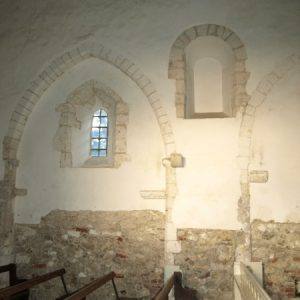 A Norman window in the north wall
