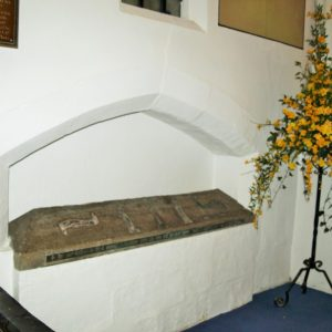 North chancel tomb recess