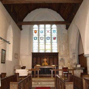 The early 13th century chancel