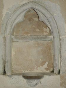 Piscina in the chancel