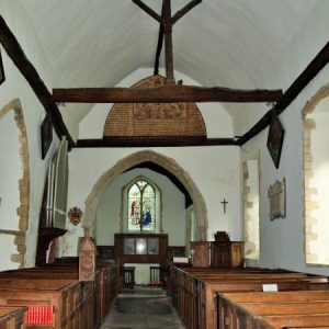 The nave and crown post roof