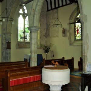 The font and south arcade