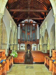 The chancel looking back to the nave