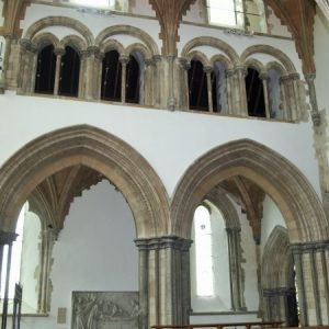 Chancel arches, triforium, and clerestory