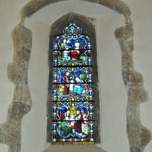 A north window in the nave
