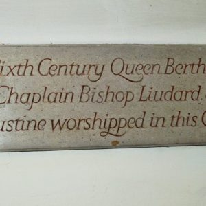 Queen Bertha plaque