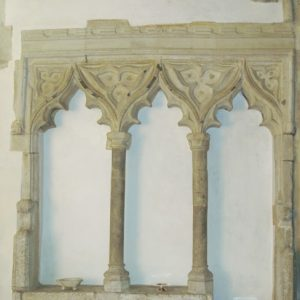 Triple sedilia in chancel