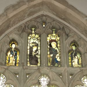 14th century glass in east window