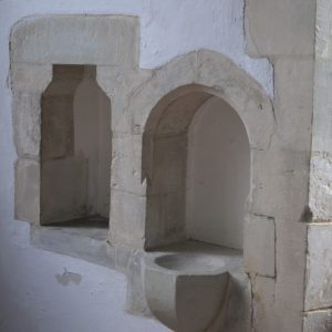 Aumbry and piscina in the chancel