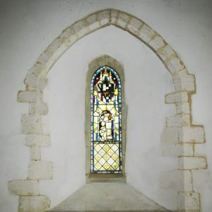 North chancel lancet window