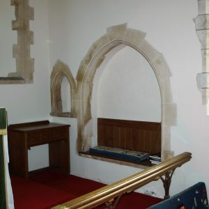 Chancel sedilia and piscina