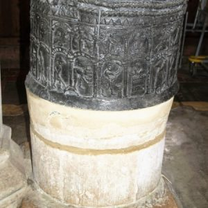 The 12th century lead font