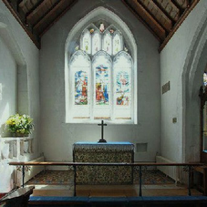 Chaldon church chancel